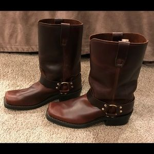 Men's Durango Brown Leather Harness Boots SZ 11.5